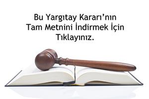 Yargıtay Kararları