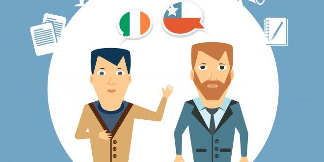 translator says a foreigner   illustration